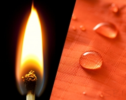 Flame Retardant and Stain Protection on fabric